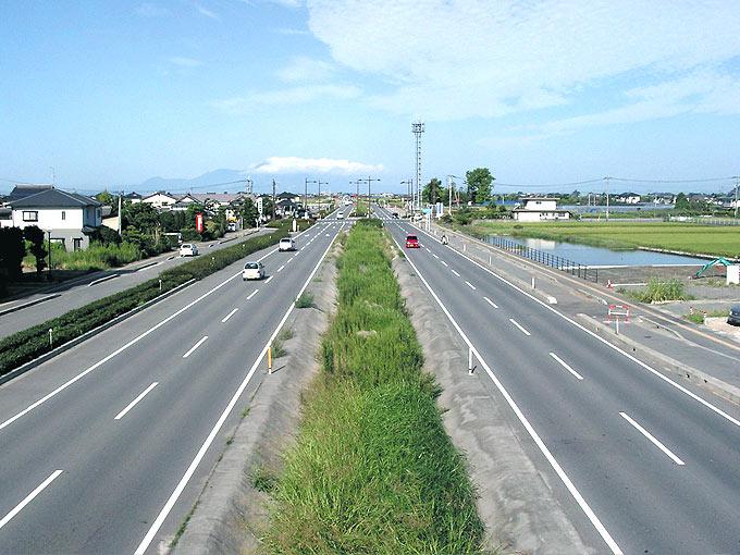 国道443号(益城町土山バイパス)